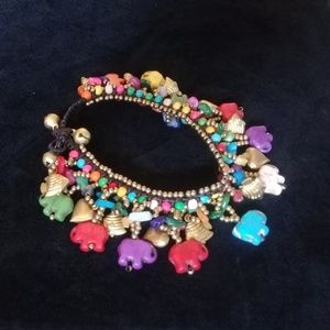Colorful elephant bracelet
